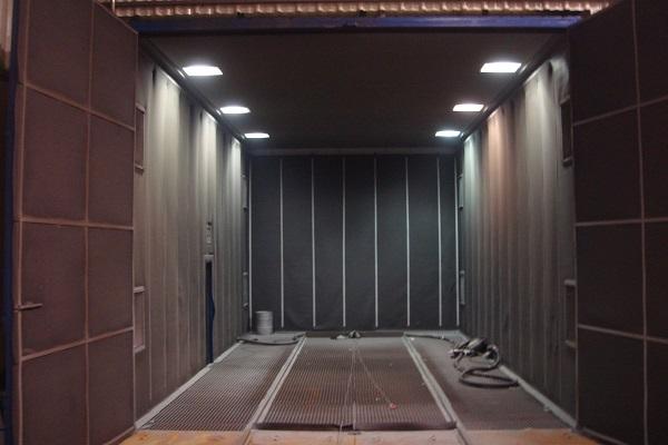 tunel granullado y limpieza tratamiento superficial