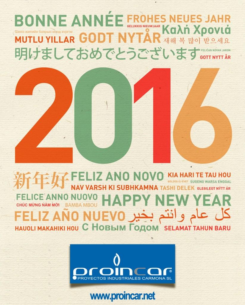Desde Proyectos Industriales Carmona SL, os deseamos a todos un muy feliz 2016
